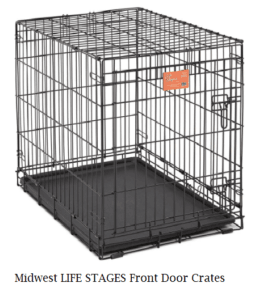 Empty blak metal crate with black tray on the bottom