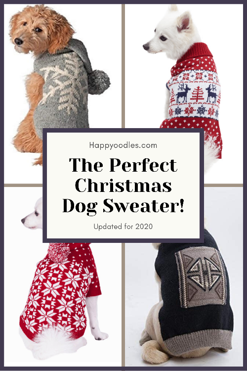 The Perfect Dog Christmas Sweater - Updated 2020 - Pinterest Pin