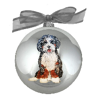 Dog Christmas Ornaments- Painted Pooches