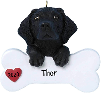 Personalized Dog Ornaments - with model of breed