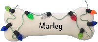 Personalized Dog Bone Ornament with lights