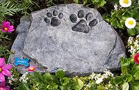 Pet Memorial Stones - Gray Stepping Stone Urn