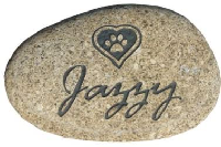 Pet Memorial Stones - Personalized River Rock