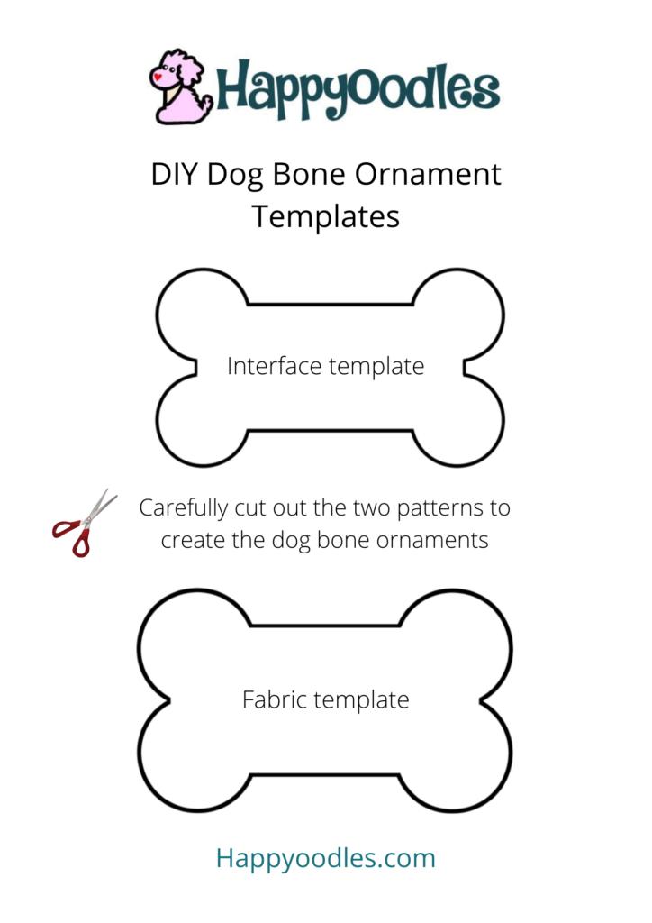 DIY Dog Bone Christmas Ornament cutouts - Happyoodles.com