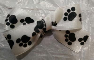 DIY Dog Bone Ornament Paw Print Bow