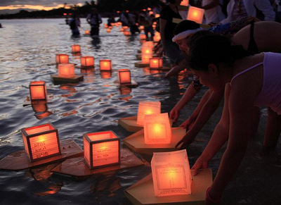 Lantern Floating event in Hawaii